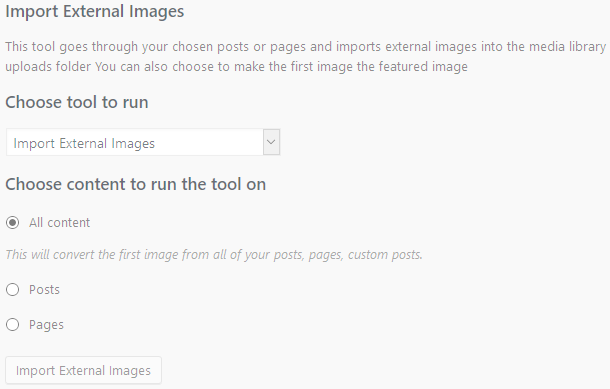 WordPress MediaTools Import External Images