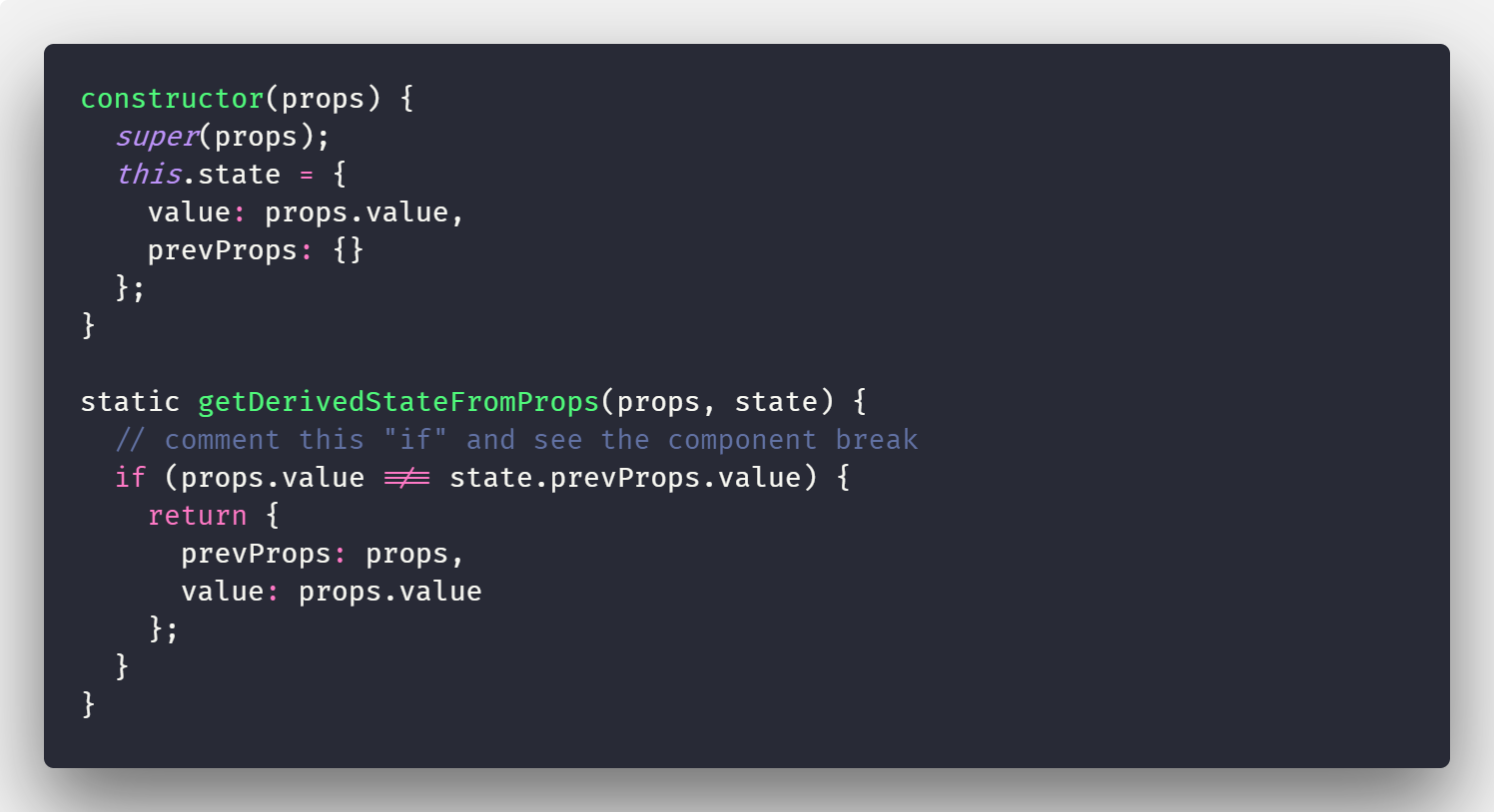 react component did receive props